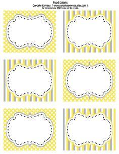 yellow+grey+food+labels+3.75x3in.jpg (1236×1600)