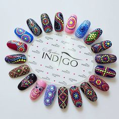 Nail Art for Indian Bride A Trendy unapologetic Bridal S.- Nail Art for Indian Bride A Trendy unapologetic Bridal Statement of - Gel Manicure Designs, Dot Nail Designs, Diy Nails, Cute Nails, Pretty Nails, Diy Manicure, Mandala Nails, Dot Nail Art, Easy Nail Art