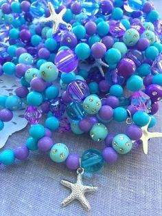 Hey, I found this really awesome Etsy listing at https://www.etsy.com/listing/255345388/starfish-mermaid-kids-stretchy-bracelet