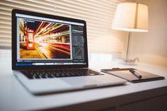 Komputer, Macbook, Tabletki, Edycji, Obraz, Lightroom