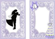 SWEPT ME OFF MY FEET A5 INSERT on Craftsuprint designed by Nick Bowley - HE SWEPT ME OFF MY FEET! WEDDING SILHOUETTE ON LACE A5 INSERT , Makes a pretty wedding card, lots of other designs to see, also matching A5 - Now available for download!