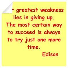 Thomas Edison quotes Wall Decal