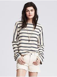 Striped Pique Sweatshirt