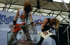 Metallica perform onstage during Monsters Of Rock festival at Castle Donington, 1987. Photo by Mike Cameron.