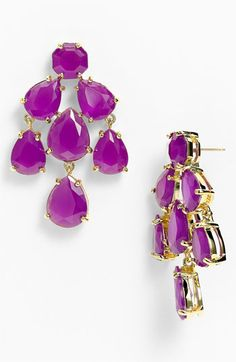 I would like these in every color, please and thank you.   kate spade new york faceted chandelier statement earrings | Nordstrom