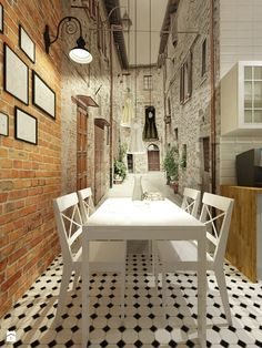 Kuchnia z fototapetą. Room Decor, Wall Decor, Wall Mural, Home Wallpaper, Wallpaper Murals, Diy Garden Decor, Modern Interior Design, Sweet Home, House Design