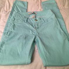 Refuge Skinny jeans Blue/ green skinny jeans worn one time. refuge Jeans Skinny