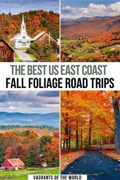 East Coast Usa, East Coast Road Trip, Road Trip Usa, Best East Coast Vacations, East Coast Travel, Fall Vacations, Road Trip Destinations, Road Trip With Kids, Road Trip Hacks