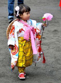 Adorable japanese little girl.