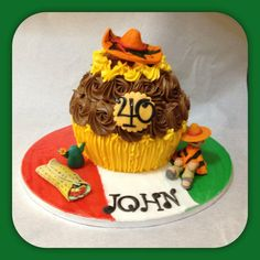 Mexican themed Giant cupcake by Piece of Cake, Gibraltar.