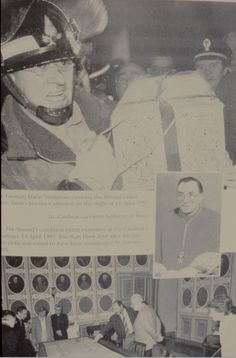 Photograph of Mario Tremantone rescuing the Holy Shroud of Turin from a fire in the Cathedral of St. Jean Baptiste, back in 1997.