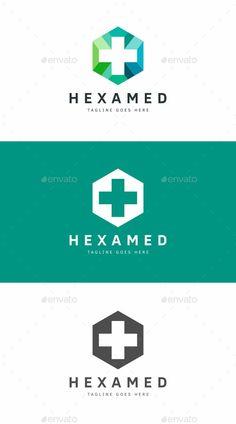 Medical Cross Logo: Symbol Logo Design Template created by Logo Design Template, Logo Templates, Badge Design, Corporate Design, Logos, Service Logo, Medical Design, Care Logo, Font Names