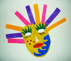 Make your own mask for Cinco de Mayo! Cute, easy craft for kids :)