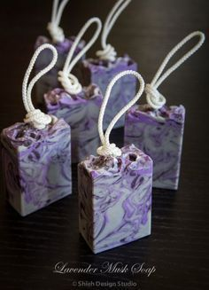 Soap 038 Restless Mix and Match Lavender Musk Diy Savon, Savon Soap, Soap On A Rope, Homemade Soap Recipes, Lavender Soap, Soap Packaging, Goat Milk Soap, Cold Process Soap, Soap Molds