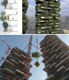 World's first vertical forest. I would love to live there!! Always wanted to live in an urban area yet come home to a forest like environment.