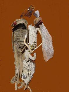 mariés - Sculpture,  55 cm ©2007 par nicole agoutin -
