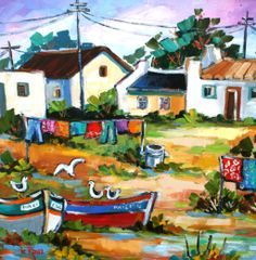 isabel le roux paintings - Google Search Illustrations, Illustration Art, African Paintings, South African Artists, Cool Artwork, Amazing Artwork, Country Art, Naive Art, Whimsical Art