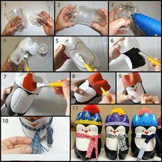 MuyVariado.com: Cómo Hacer unos Lindos Pingüinos con Botellas Descartables