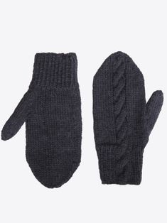 Mittens worked in Novita Alpaca Wool yarn with a traditional cable stitch pattern. A pattern for a hat is also available. Alpaca Wool, Wool Yarn, Stitch Patterns, Knitting Patterns, Mittens Pattern, Alpacas, Knitting Accessories, Mitten Gloves, Cable Knit