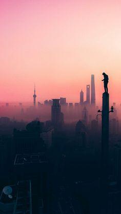 Paisagem human, people, city, smog, shadow