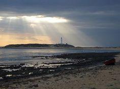 Desde playa de los caños vista del faro de Trafalgar