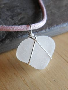 Sea Glass Necklace  Beach Glass Heart Jewelry  by SeaFindDesigns, $18.00