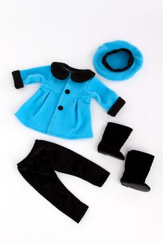 Parisian Stroll - Clothes for 18 inch American Girl Doll - Fleece Coat, Beret, Leggings Boots – Dreamworld Collections