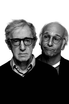 Could this be any better? #specs #glasses Woody Allen & Larry David