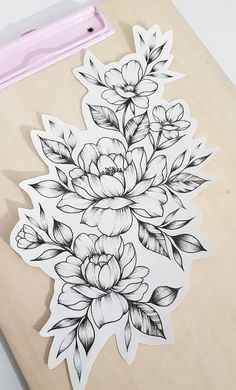 Excellent simple ideas for your inspiration Flower Tattoo Drawings, Flower Thigh Tattoos, Flower Tattoo Shoulder, Sunflower Tattoos, Rose Tattoos, Key Tattoos, Butterfly Tattoos, Watercolor Tattoos, Skull Tattoo Flowers