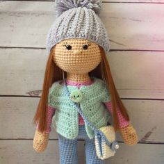 This beautiful Molly doll is an excellent gift for a girl. The doll crochet pattern includes the instructions for clothes and bag. Easy loops!