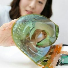 LG Display Co. has developed an flexible display that can be rolled into a thin cylinder, a step toward making a large display for flexible TV. Flexible Tv, Flexible Screen, Flexible Display, Lg Display, Display Screen, Display Panel, Tv Panel, Lg Tvs, Roll Ups
