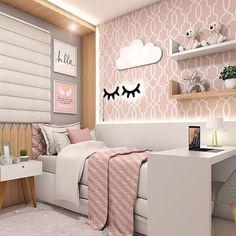 Popular Kids Bedroom For Girls Daughters Shelves Ideas Home Room Design, Bedroom Design, Bedroom Diy, Room Inspiration, Stylish Bedroom, Stylish Bedroom Design, Cute Room Decor, Girl Bedroom Decor, Kid Room Decor
