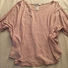 Blush Knit Top FOREVER 21 Knit Top! Beautiful blush/nude color, batwing sleeves, super soft!! Worn once or twice, no signs of wear or damage. Forever 21 Tops Tunics