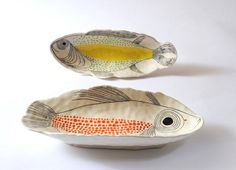 Andrew Ludick's Ceramics. (Art is a Way) Ceramic Clay, Ceramic Plates, Ceramic Pottery, Pretty Things, Keramik Design, Tadelakt, Plate Design, Paperclay, Fish Art