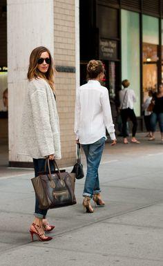 Valentino heels, 6397 sweater, J Brand jeans, Celine handbag & Ray-Bans at tomboykc #katiecassidy