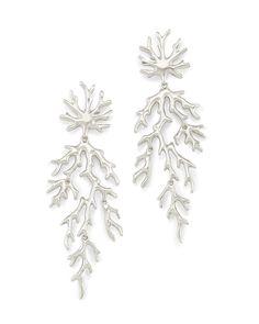 Kendra Scott Aviana Silver Earrings - Holly & Brooks