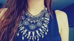 Big statement necklace #zara #fashion #necklace