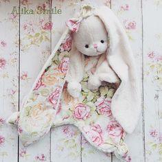 комфортер куски, комфортер зайка, зайчик, детский текстиль, для новорожденных
