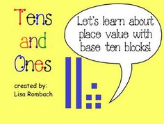 Tens & Ones Place Value Math SmartBoard Lesson (.notebook file) $