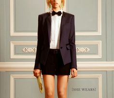 girl in bow tie + how to tie a bow tie