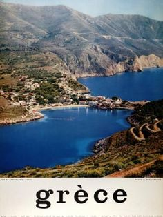 GRECE 1960~1969. (KASTORIA). Old Posters, Poster Ads, Sandy Beaches, Vintage Travel Posters, Travel And Leisure, Greece Travel, Visit Greece, Travel Guides, Tourism