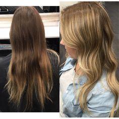 From brunette to blonde  Olaplex Redken