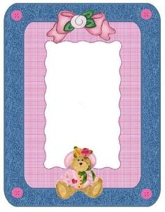 Image result for Design Teddy bear Border ideas for making labels on craft containers