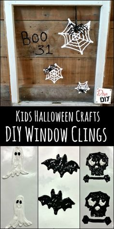 DIY Window Clings are the perfect touch! Try some Easy Halloween Crafts for Kids…