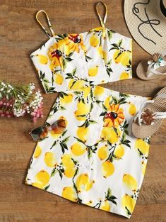 SHARE & Get it FREE | Button Up Lemon Top And Bodycon Skirt Set - White MFor Fashion Lovers only:80,000+ Items • New Arrivals Daily Join Zaful: Get YOUR $50 NOW!