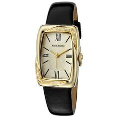 Ladies' Roman Diamond Watch In Gold & Black http://www.beyondtherack.com/member/invite/B7C53751