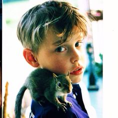 Chord as a child. And yes, he has a squirrel on his shoulder