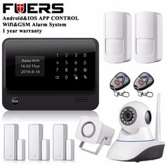 Original G90B WIFI gsm alarm system with Touch keypad IOS Android APP control Home Security  Alarm System IP wifi camera