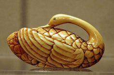 asian swan painting | AAMSF---netsuke-swan From the collection of ... | Alternative Materia ...