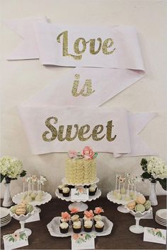 DIY love is sweet swag sign